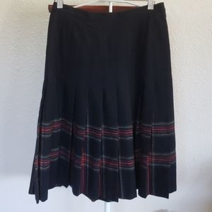 Pendleton Wool Pleated Tartan Skirt